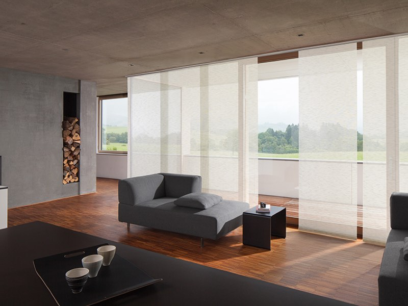 fl chenvorh nge und schiebegardinen i raumconcept. Black Bedroom Furniture Sets. Home Design Ideas