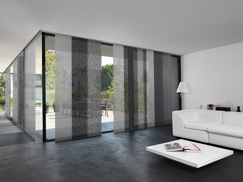 fl chenvorh nge und schiebegardinen i raumconcept. Black Bedroom Furniture Sets. Home Design Ideas